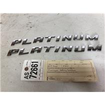 2014-2016 Ford F350 Platinum boxside emblems tag as72661