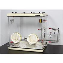 Plas Labs 830-ABC Compact Analytical Balance Lab Glove Box Chamber w/ Warranty