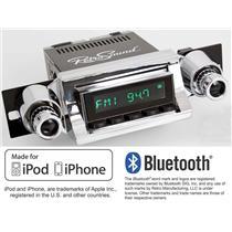 RetroSound 1957 Chevy Bel Air Long Beach Radio iPhone Bluetooth Aux In