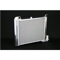 "1963-67 Corvette,SB All Manual 2 Row 1"" Tube, Natural Aluminum Radiator"