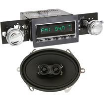 "RetroSound Hermosa Radio w/ 5x7"" Dash Speaker 60-63 GM Truck Chrome / Chrome"
