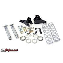 64-72 GM A-Body Rear Coilover Kit 125 Spring Rate Control Arm Relocation Bolt In