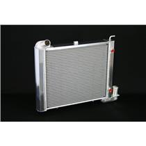 "1963-67 Corvette,SB All, Automatic 2 Row 1"" Tube, Natural Aluminum Radiator"