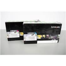 Lexmark Toners Magneta 24B5805 and Cyan 24B5804 High Yield Toner Cartridges NEW