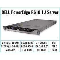 DELL PowerEdge R610 1U Server 2×Quad-Core Xeon 2.66GHz + 96GB RAM + 6×300GB RAID