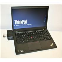 "Lenovo ThinkPad T440s 14"" Core i5 4th-Gen 8GB 180GB WiFi BT 1600x900 + Docking"