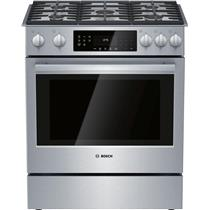 Bosch 30 Inches Slide-In Gas Range with Convection Technology HGI8056UC