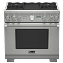 NIB Thermador 36'' 4 Sealed Star Burners Pro-Style Dual-Fuel Range PRD364JDGU
