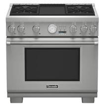 NIB Thermador Pro Grand Professional 36'' Pro-Style SS Gas Range PRG364JDG