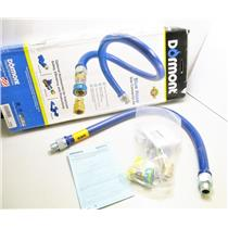 "Dormont 1675BPQR36BX W/QD/RDC 3/4"" X 36"" Blue Hose Gas Connector Kit New"