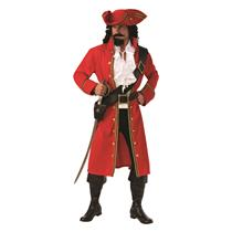 Pirate Captain Hook Red Coat Adult Mens Costume Size X-Large