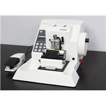 Microm HM355 S Rotary Motorized Microtome w/ Foot Switch & Knife Assembly