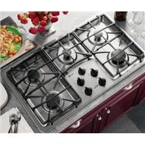 "GE Profile 36"" Stainless 5 Burners Continuous Grates Gas Cooktop JGP963SEKSS"