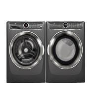 """Electrolux 27"""" Front Load Titanium Steam Washer & Dryer EFLS627UTT & EFME627UTT"""