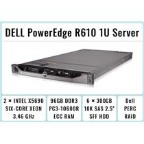 DELL PowerEdge R610 1U Server 2×Xeon X5690 Six-Core 3.46GHz + 96GB RAM + 6×300GB