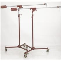 2 Mole-Richardson Type 75 Comet Boom Microphone Stands Starbird RCA Style #38274