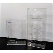 VWR Acrylic Glove Box Holders 1) 3 Box and 1) 4 Box Wall Mount or Stand-Alone