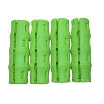 4 pc LIME GREEN SNAPPY GRIPS - Bucket Handles -Mining-Farming-Gardening-Painting