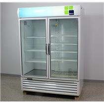 "Used: Turbo Air TGM-50RS 56"" Reach-In Refrigerator White Merchandiser-Swing Glass Door"