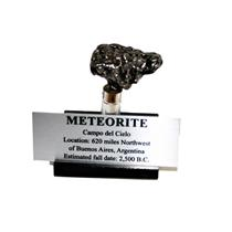 Campo del Cielo METEORITE 44.4 gm w/ Acrylic Display, Label & COA #14909 8o