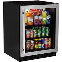 Marvel MA24BCG1RS 24 Inch 2 Cantilevered Glass Shelves Built-in Beverage Center