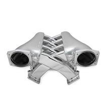 Fabricated Intake Manifold Dual Plenum 102mm GM LS3/L92 & Fuel Rail Kit Silver