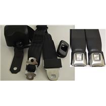 Morris Classic 3 Point Front Seat Belt 74-81 Camaro Starburst Button Buckle