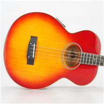 Epiphone El Capitan Acoustic Electric Bass Guitar Cherry w/ Hard Case #38951