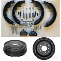 Brake Drum Shoe kit with cylinder Hdwr Chevrolet Full Size Car REAR 1959-1962