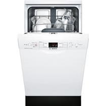 "Bosch 300 Series 18"" 4 Cycles 46 dBA White Full Console Dishwasher SPE53U52UC"