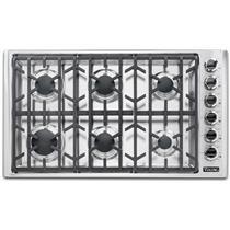 "Viking 5 Series VGSU53616BSSLP 36"" Professional 5 Series 6 Burners Gas Cooktop"