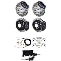"55 56 57 Bel Air Wilwood Manual 4 Wheel Disc Brake Kit 11"" Drilled Black"