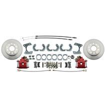 "Ford Car 9"" or 8.8"" w/ E-Brake Rear Disc Brake Kit Conversion Red Caliper"
