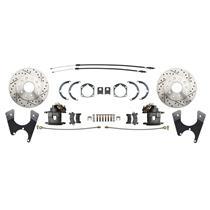 MBM 55-68 Chevy Full Size Rear Disc Brake Kit Drilled & Slotted DBK1012FSLX