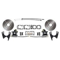 MBM 55-68 Chevy Full Size Rear Disc Brake Kit Standard Black DBK1012FS-B