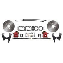MBM 55-68 Chevy Full Size Rear Disc Brake Kit Standard Red DBK1012FS-R