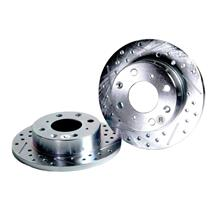 1994-2004 Ford Mustang, Baer Sport Rear Rotors, Slotted Drilled Zinc Plated 1PC