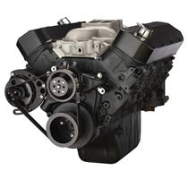 Black Chevy Big Block Gen. VI Serpentine Conversion Kit - Alternator Only, Long Water Pump