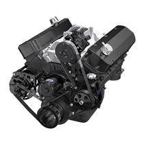 Black Chevy Big Block Gen. VI Serpentine Conversion Kit - AC, Alternator & Power Steering, EWP