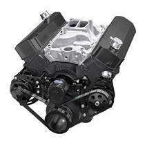 Black Chevy Big Block Gen. VI Serpentine Conversion Kit - Power Steering, Electric Water Pump