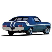 OER 1970 Nova White Yenko Deuce Stripe Set 14465