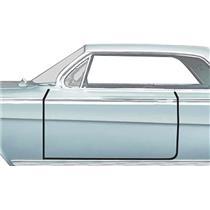 OER 1961-62 GM Full-Size Door Frame Weatherstrip, 2-Door Hardtop, Convertible, Pair K426