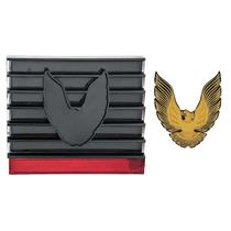 OER 79-81 Firebird/Trans Am Fuel Door Cover Only; w/ Emblem; Smoke Lens w/ Gold Bird *R278151