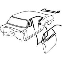 OER 68-69 Camaro / Firebird Coupe Weatherstrip Kit w/ Windowfelts- flat chrome bead *R5101