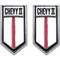 "OER 1966-67 ""ChevyII"" Door Panel Emblems 4539568"
