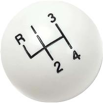 "OER White 4 Speed Shift Knob with 5/16""-18 SAE Thread 3921147W"