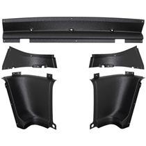 OER 1965-66 Mustang Fastback Rear Inner Quarter Trim Panel 5-pc Corner Set 31112C