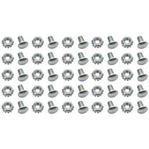 OER 59-67 Grill Installation Rivet Head Bolt w/ Nut; Set of 25; Silver *881235