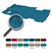 67-72 Suburban 2 Wheel Drive W/ AT (except TH400) Medium Blue Complete Loop Carpet Set TN14184B2C