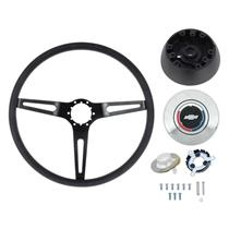 OER 69-72 Comfort Grip Steering Wheel Kit - w/ Tilt Wheel - Black Spokes- Black Grip *K620B